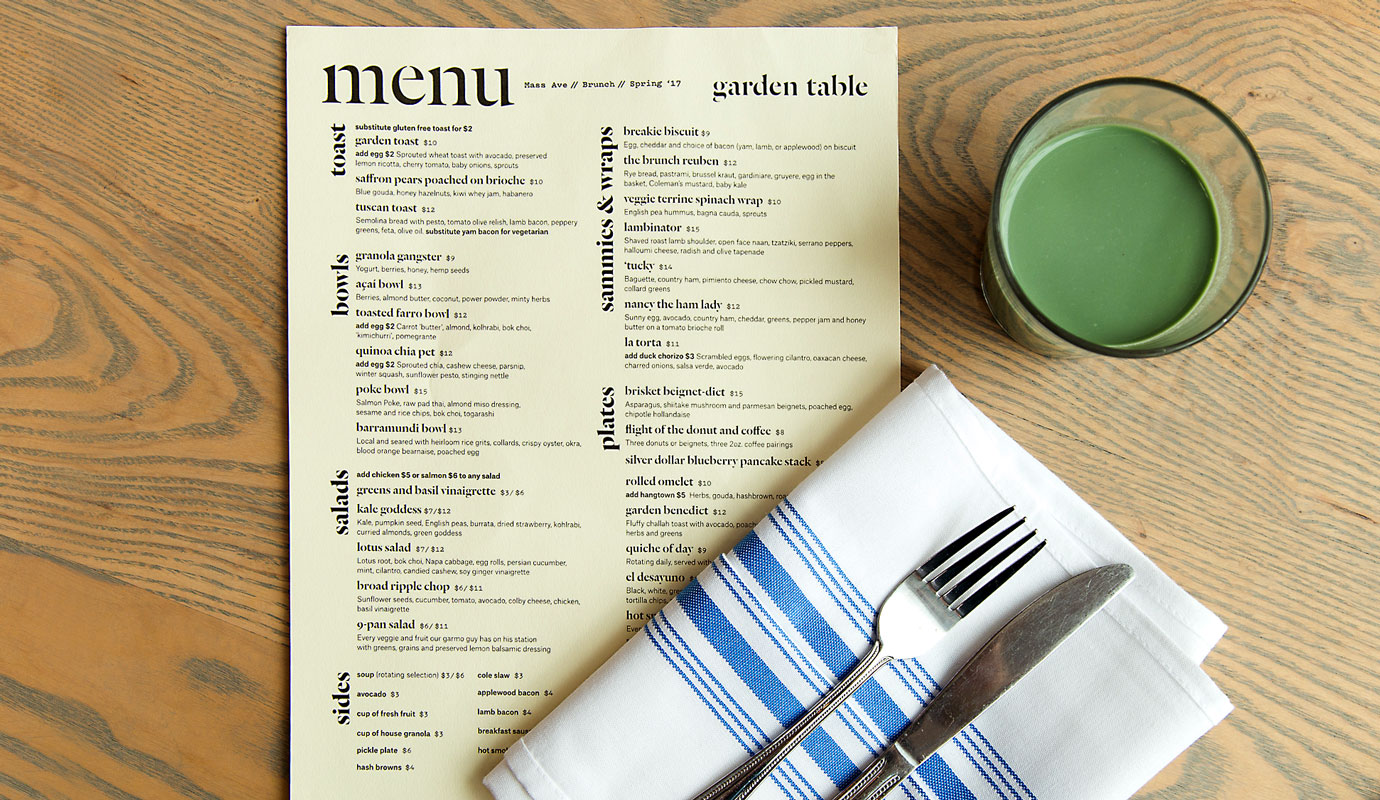 Brand Touchpoints, Menus, Signs, Packaging